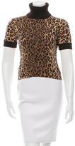 Dolce & Gabbana Cashmere Leopard Pattern Sweater