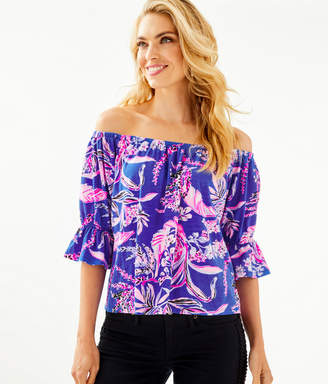 Lilly Pulitzer Channing Off-The-Shoulder Top