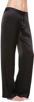 La Perla Petit Macrame Black Satin Silk Classic Trousers