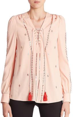 Altuzarra Sequin Silk-Blend Top