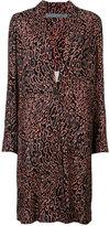 Raquel Allegra leopard print midi coat - women - Silk - 1