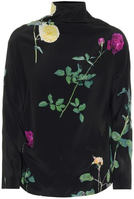 Dries Van Noten Floral silk-chiffon blouse
