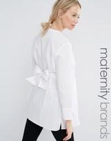 Isabella Oliver Longline Waisted Shirt