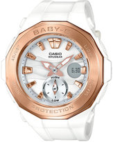 Baby-G Women's Analog-Digital White Resin Strap Watch 45x47mm BGA220G-7A