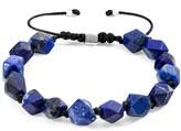 Anchor & Crew Blue Lapis Lazuli Zebedee Silver & Stone Beaded Macrame Bracelet