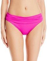 LaBlanca La Blanca Women's Island Goddess Shirred Waist Hipster Bikini Bottom