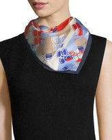 BCBGMAXAZRIA Butterfly Striped Square Scarf