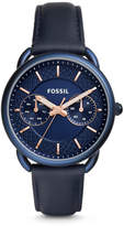 Fossil Tailor Multifunction Blue Leather Watch