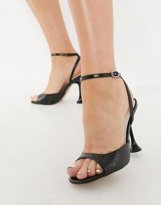 Topshop skinny heels in black
