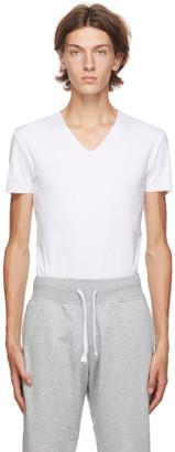 Ermenegildo Zegna White V-Neck Seamless T-Shirt