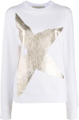 Golden Goose Metallic Star-Print Sweatshirt