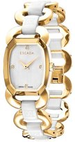 Escada E2635073 Gold Stainless Steel White Ceramic Women's Watch