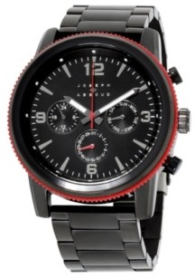 Joseph Abboud Men's Analog Black Stainless Steel Bracelet Watch 28mm