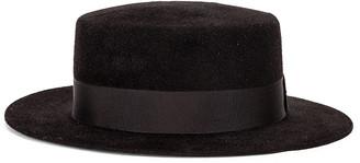Saint Laurent Canopy Hat in Noir   FWRD