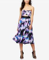 Rachel Roy Strapless Floral-Print A-Line Dress