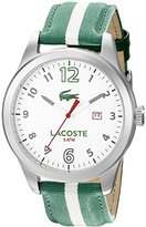 Lacoste Men's 2010721 Auckland Analog Display Japanese Quartz Green Watch
