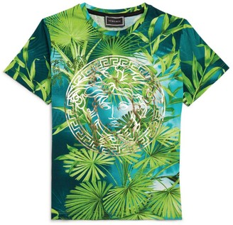 Versace Leaf Print Medusa T-Shirt (4-14 Years)