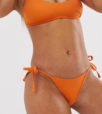Free Society Exclusive micro tie side bikini bottom in orange