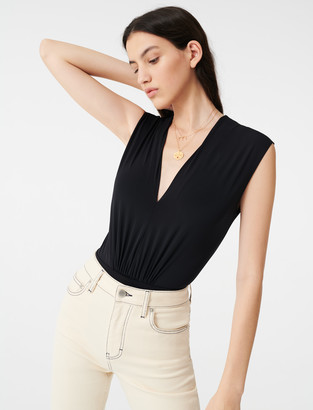 Maje Draped stretchy bodysuit