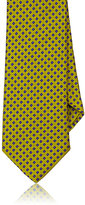 Ike Behar MEN'S SQUARE-PATTERN WOVEN NECKTIE-GOLD
