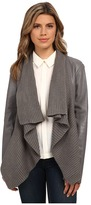 BB Dakota Sarafina PU Jacket with Sweater Knit Drape Front