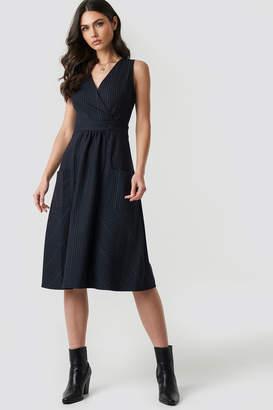 Trendyol Pocket Detailed Dress Blue