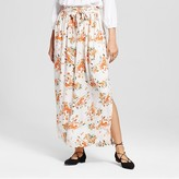 Mossimo Women's Floral Print Woven Maxi Skirt with Tie Waist