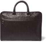 Bottega Veneta Intrecciato Leather Briefcase - Brown