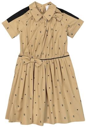 Burberry Children Printed stretch-cotton shirt dress