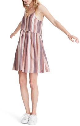 Madewell Cami Babydoll Stripe Print Dress