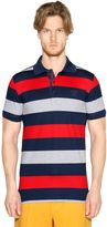 Paul & Shark Striped Cotton Piqué Shark Fit Polo
