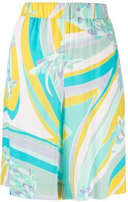 Emilio Pucci Lilly-print Bermuda shorts