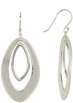 Argentovivo Sterling Silver Double Mirror Earrings