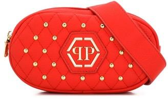 Philipp Plein Junior studded quilted belt bag