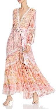 Rococo Sand Slit-Sleeve Paisley Maxi Dress