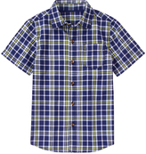 Crazy 8 Handsome Navy Plaid Woven Button-Up - Boys