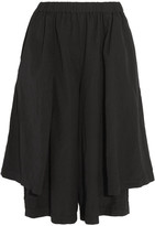 Comme des Garcons Draped Brushed-jersey Culottes - Black