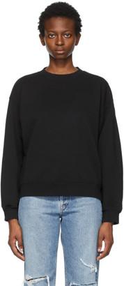 AGOLDE Black Nolan Drop Shoulder Sweatshirt