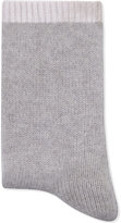 Cash Ca Ladies Grey Knitted High Quality Cashmere Slouch Bed Sock