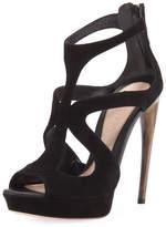 Alexander McQueen Strappy Suede Platform Sandal