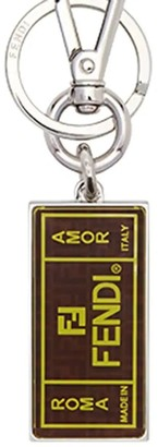 Fendi Brown Motif Keychain Brown/yellow