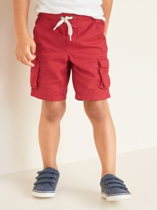 Old Navy Functional-Drawstring Canvas Cargo Shorts for Toddler Boys
