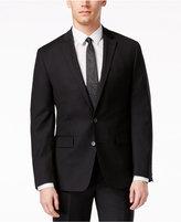 Ryan Seacrest Distinction Black Solid Slim-Fit Jacket