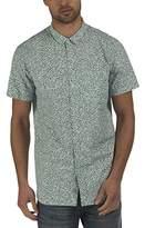 Bench Men's Liberal Regular Fit Short Sleeve Leisure Shirt - blue -