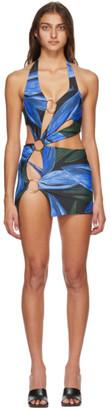 Louisa Ballou SSENSE Exclusive Blue Sex Wax Dress