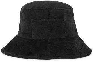 LACK OF COLOR Wave black terry bucket hat