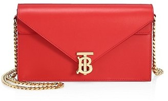 Burberry Small TB Leather Envelope Clutch