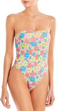 Frankie's Bikinis Stella Printed One Piece Swimsuit