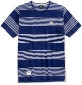 Lrg Men's Shipwreck Stripe Drop-Tail Cotton T-Shirt