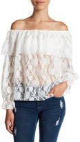 Soprano Off-the-Shoulder Lace Blouse